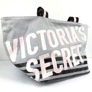 Victoria's Secret Large Striped Weekender Tote Bag